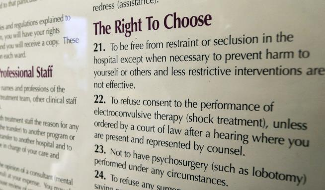 Ap exclusive washington hospital is like going into hell 76 18 2015 file photo a portion of a hospital patient rights poster is shown on a wall on a ward at the western state hospital in lakewood solutioingenieria Choice Image