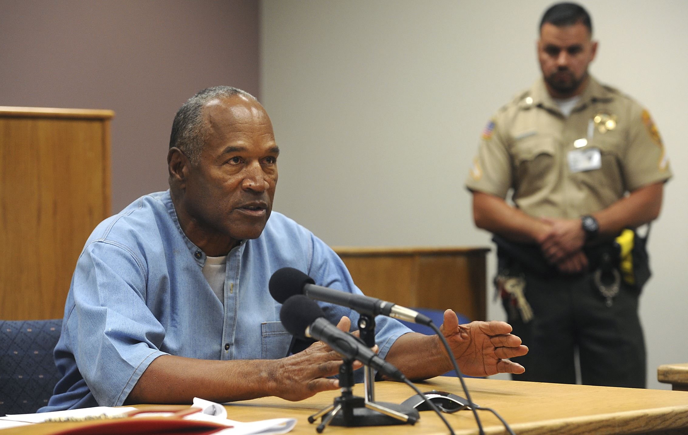 Simpson in Protective Custody After Parole Hearing