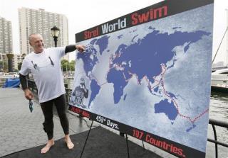 This Man's Plan: Swim Around the World in 450 Days