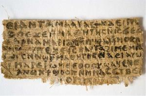 This Sept. 5, 2012, photo shows the so-called Gospel of Jesus' Wife.