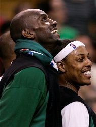 Boston Celtics' Kevin Garnett, left, who entered the NBA straight out of high school, may have helped encourage sports agents to target younger athletes.