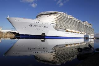 The Harmony Of Seas Largest Cruise Ship In World Set Sail For Its First Test Run Thursday Ap Photo Laeia Notarianni