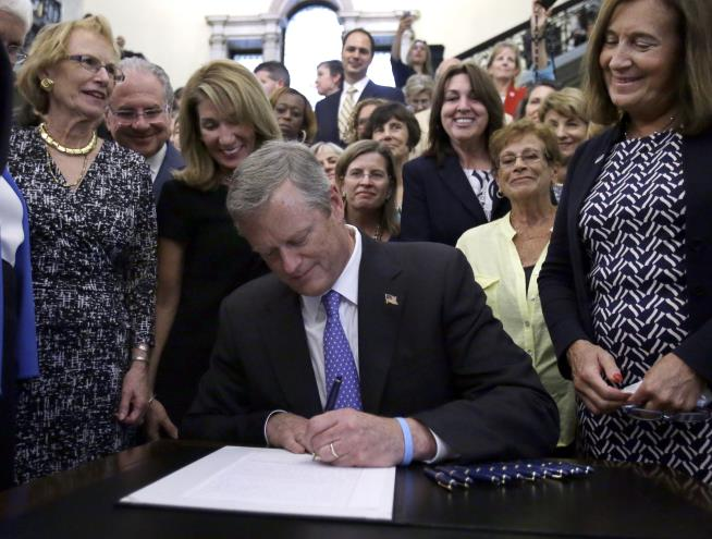 Baker signs MA pay equality bill