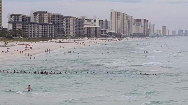 Human chain saves family caught in rip current off Florida beach