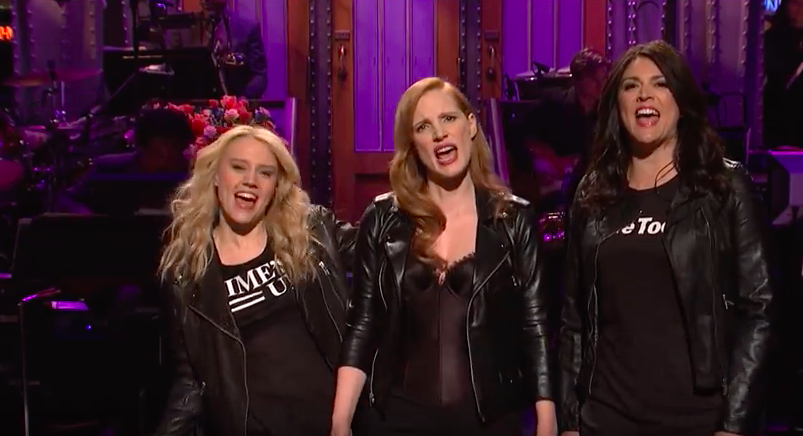 Chastain Salutes Women's March on SNL