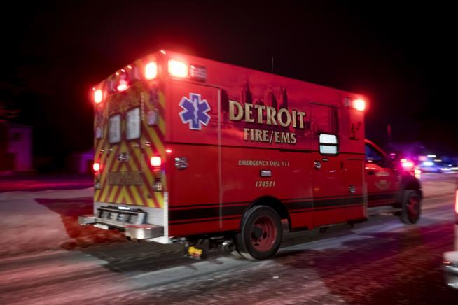 Two dead, Detroit police officer shot