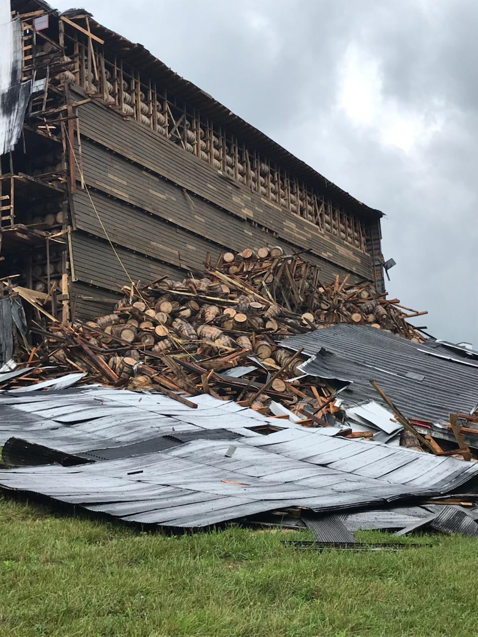 Up to 9K Whiskey Barrels Just Crashed to the Ground in Ky.