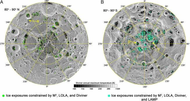 Definitive evidence of water ice on the Moon's surface