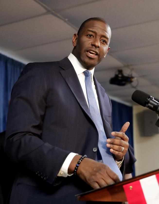 Democratic candidate for Florida governor targeted with racist robocalls