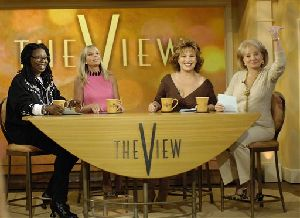 Whoopi Goldberg appears with View co-hosts (from left) Elisabeth Hasselbeck, Joy Behar and  Barbara Walters in this file photo.