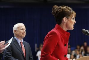 Sarah Palin was due to head to John McCain's Arizona ranch following a rally today in Ohio to prepare with top campaign advisers for Thursday's vice-presidential debate.