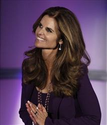 Maria Shriver acknowledges the crowd  at The Women's Conference last month in Long Beach, Calif.