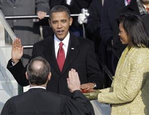 Barack Obama took the oath of office from Chief Justice John Roberts to become the 44th president of the US yesterday. Or did he?