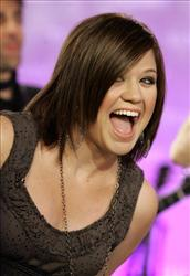 Kelly Clarkson, the first American Idol winner, appears on the NBC Today show in New York, Tuesday May 8, 2007.