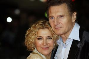 Actors Liam Neeson, right, and his wife Natasha Richardson are shown in 2008.