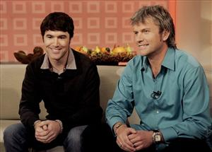 Tom Anderson, left, and Chris DeWolfe, founders of MySpace, appear on the NBC Today program in 2007.