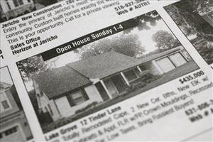 Real estate advertisements.