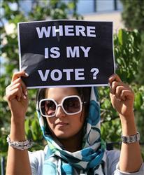 A Mousavi supporter.