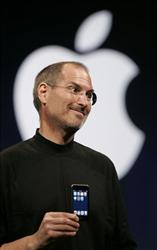 Steve Jobs introduces the Apple iPod Touch at a tech conference. Jobs has returned to work after a long absence when he reportedly received a liver transplant.