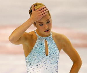 Jennifer Kirk reacts as she leaves the ice after her free skate during the State Farm US Figure Skating Championships at the Rose Garden on January 15, 2005 in Portland, Oregon.