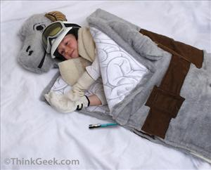 The prototype of the Tauntaun sleeping bag.