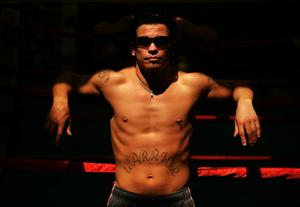 Boxer Arturo Gatti poses during a photo shoot at the World Boxing and Fitness Center in Jersey City, New Jersey on August 9, 2006.
