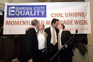 Gay Couples Celebrate New Jersey Civil Unions Law