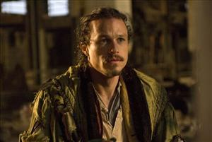 Heath Ledger is shown in a scene from The Imaginarium of Dr. Parnassus.