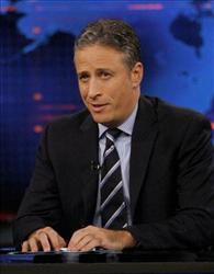 Jon Stewart is seen on the set of the Daily Show in this file photo.