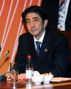 Japanese Prime Minister Shinzo Abe attends a leaders retreat...