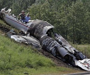 DJ AM, aka Adam Goldstein, and Blink-182 drummer Travis Barker survived this plane crash last September.