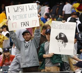 Pittsburgh Pirates fans name-check another notable loser after today's game, when the Pirates lost to Chicago and clinched a record 17th consecutive losing season.