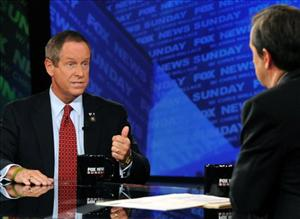 In this photo provided by FOX News, Rep. Joe Wilson, R-S.C., appears on Fox News Sunday with Chris Wallace in Washington, Sunday, Sept. 13, 2009.