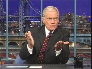 David Letterman spills nearly all to his audience last week.