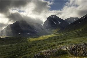 Mountains in Lappland, Sweden.