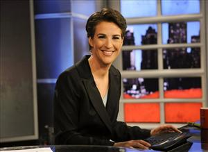 In this image released by MSNBC, Rachel Maddow from MSNBC's The Rachel Maddow Show, is shown on Sept. 23, 2008.