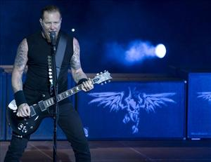 James Hetfield of Metallica peforms in Berlin.