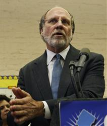 Gov. Jon S. Corzine speaks to a gathering during a campaign event in Linden, N.J., Wednesday, Oct. 28, 2009.