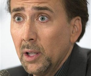 Nicolas Cage speaks during a news conference for the movie Bad Lieutenant: Port of Call New Orleans at the Toronto International Film Festival in Toronto on Tuesday, Sept. 15, 2009.