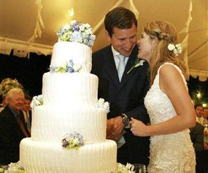 Jenna Bush celebrates with her new husband, Henry Hager, following their marriage at the Bush family's Prairie Chapel Ranch in Crawford, Texas, Saturday, May 10, 2008.