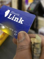 A Link card, Illinois' version of food stamps.