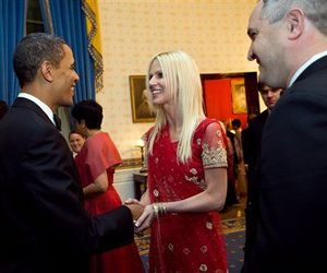 President Barack Obama greets Michaele and Tareq Salahi at last week's White House dinner.
