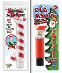 Yes, indeedy, those ARE Santa-themed vibrators. For only $15.55 and $6.18, respectively, at SexToy.com.