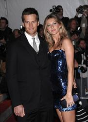 This is a May 4, 2009, file photo showing New England Patriots' Tom Brady and his wife, model Gisele Bundchen arriving at the Metropolitan Museum of Art's Costume Institute Gala in New York.