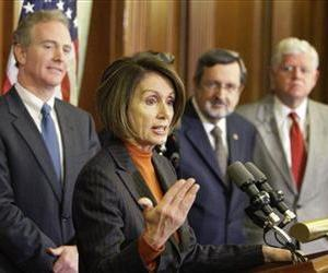 House Speaker Nancy Pelosi, D-Calif., speaks during a news conference with other house leaders on Capitol Hill in Washington, Wednesday, Dec. 16, 2009.