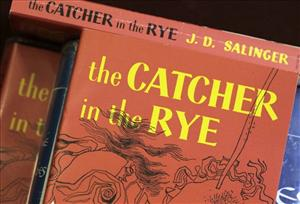 Copies of J.D. Salinger's classic novel The Catcher in the Rye.