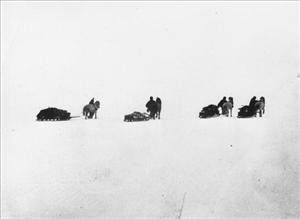 The Southern party of Shackleton's Antarctic expedition, which came within 96 miles of the south pole on January 9, 1909 before having to turn back.