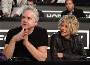 In this image released by Hope for Haiti Now, actors Tim Robbins, left, and Meg Ryan are shown at Hope for Haiti Now: A Global Benefit for Earthquake Relief, on Friday, Jan. 22, 2010, in Los Angeles.