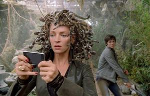 In this film publicity image released by 20th Century Fox, Uma Thurman, left, and  Logan Lerman are shown in a scene from, Percy Jackson & the Olympians: The Lightning Thief.