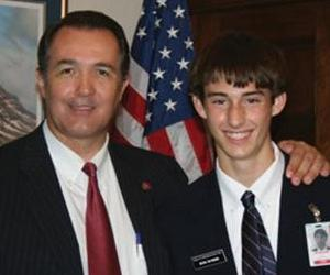 Arizona Republican Rep. Trent Franks, with a staff member.